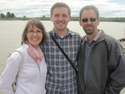 Mom, Dad and Me in Steveston, BC